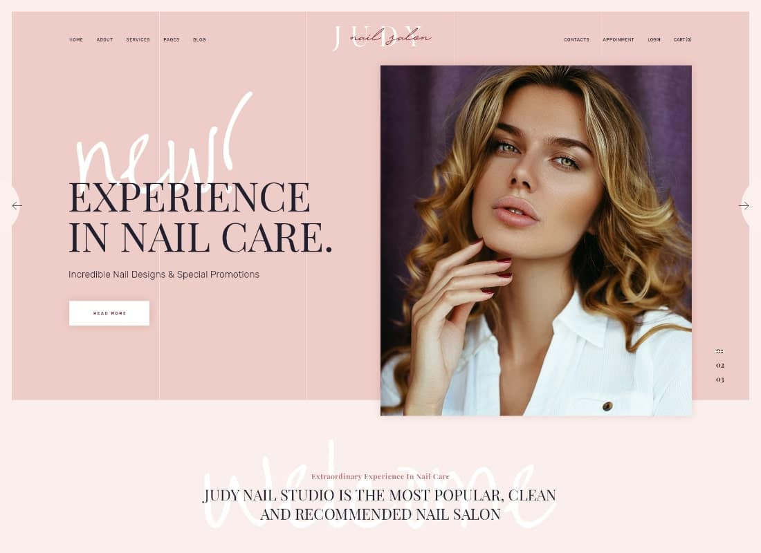 Jude | Nail Bar & Beauty Salon WordPress Theme Website Template