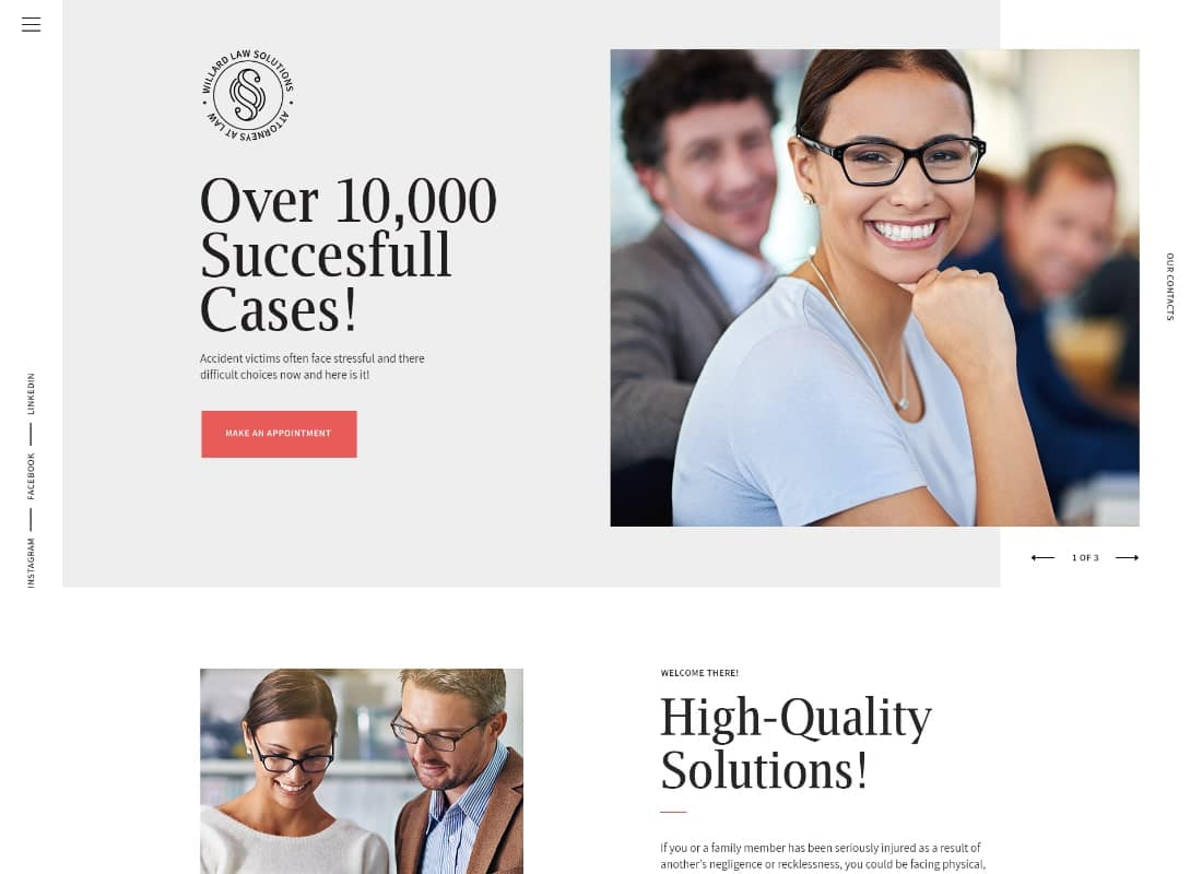 Justitia | Multiskin Lawyer & Legal Adviser WordPress Theme Website Template