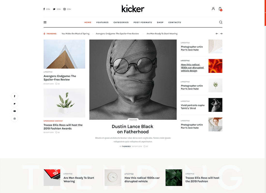 Kicker - Multipurpose Blog Magazine WordPress Theme + Gutenberg Website Template