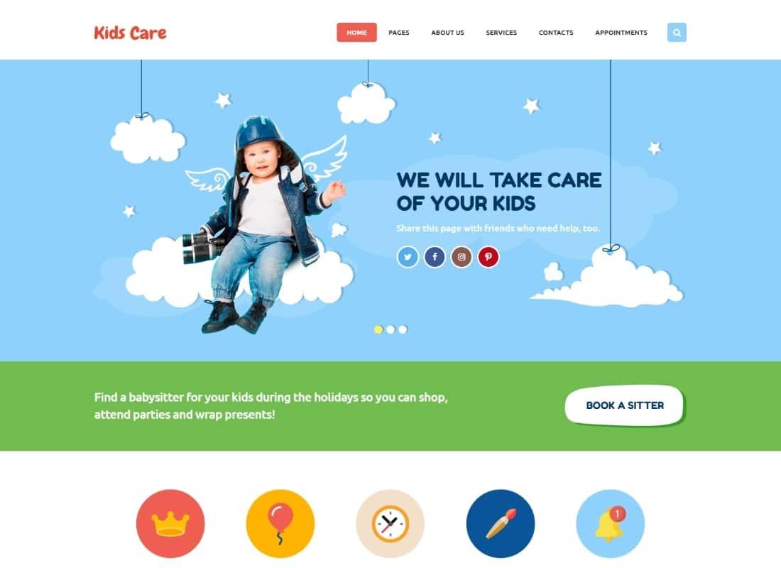 Kids Care | A Multi-Purpose Children WordPress Theme Website Template