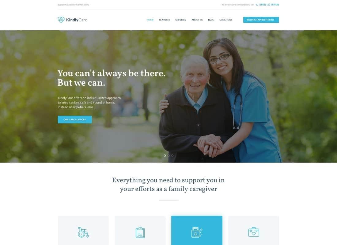 KindlyCare - Senior Care & Medical WordPress Theme Website Template