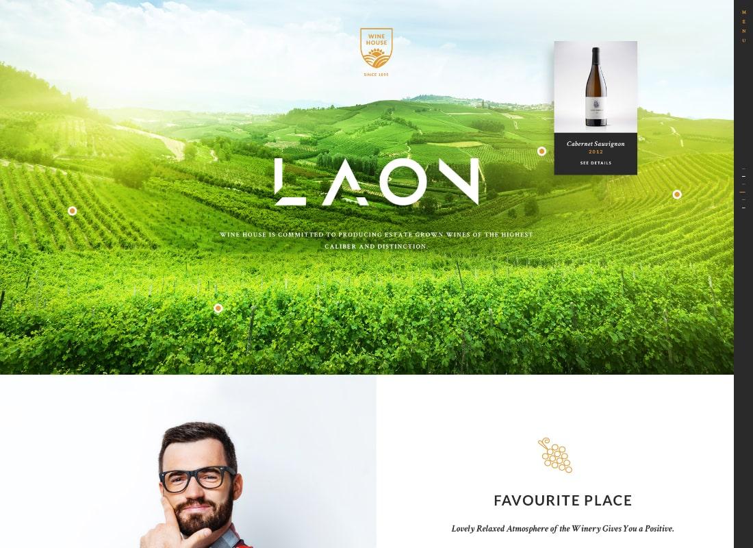Laon | Wine House, Winery & Wine Shop WordPress Theme Website Template