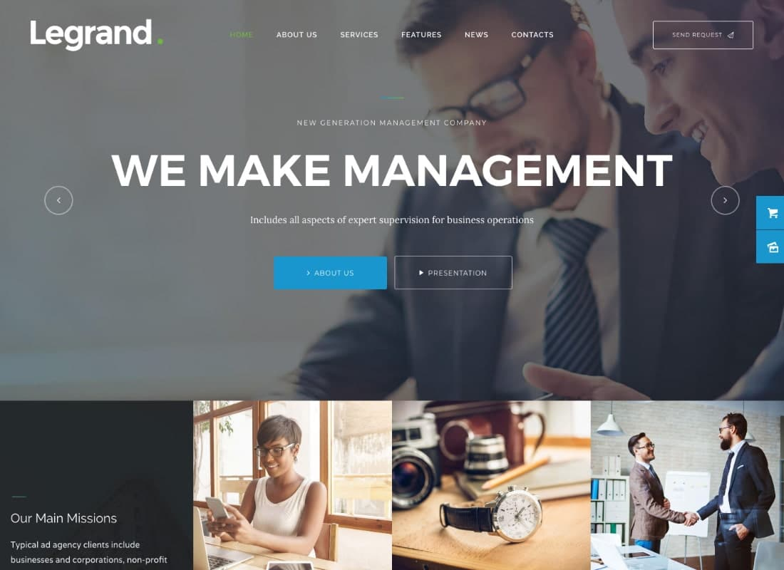 LeGrand | A Modern Multi-Purpose Business WordPress Theme Website Template