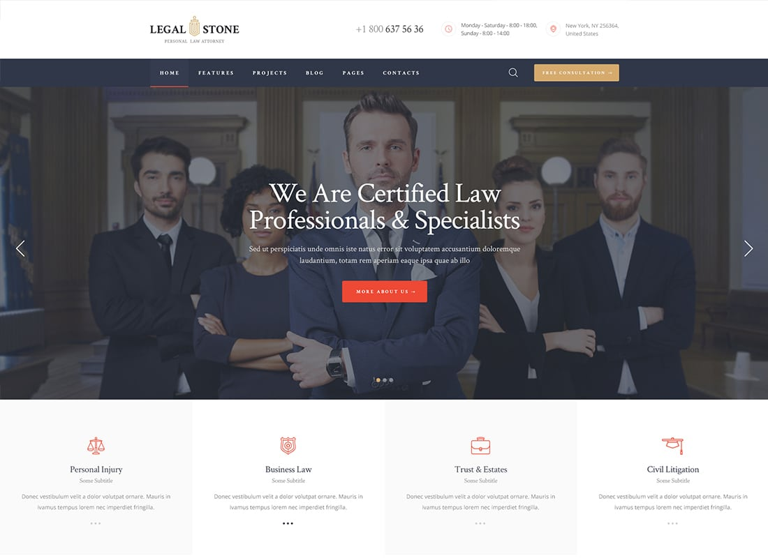 Legal Stone | Lawyers & Attorneys WordPress Theme Website Template
