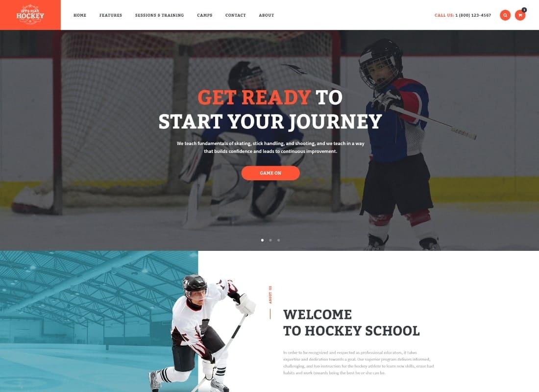 Let's Play | Hockey School & Winter Sports WordPress Theme Website Template