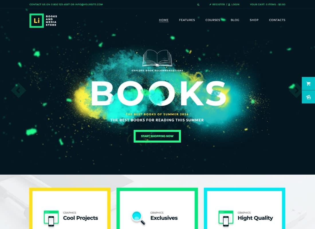 Lorem Ipsum | Books & Media Store WordPress Theme Website Template