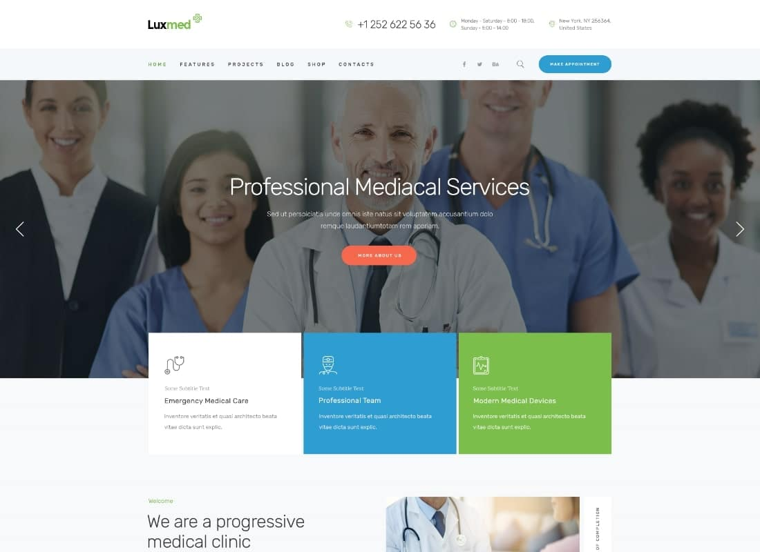 LuxMed | Medicine & Healthcare Doctor WordPress Theme Website Template