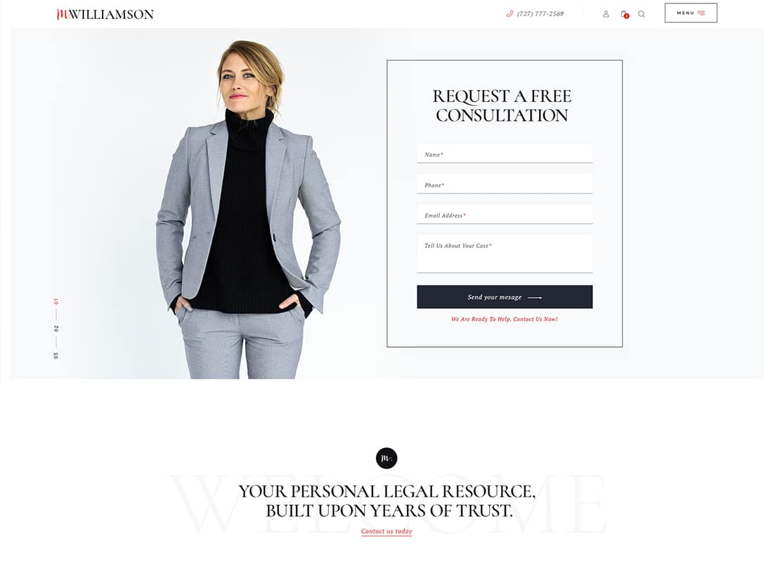 M.Williamson | Lawyers & Legal Adviser WordPress Theme Website Template