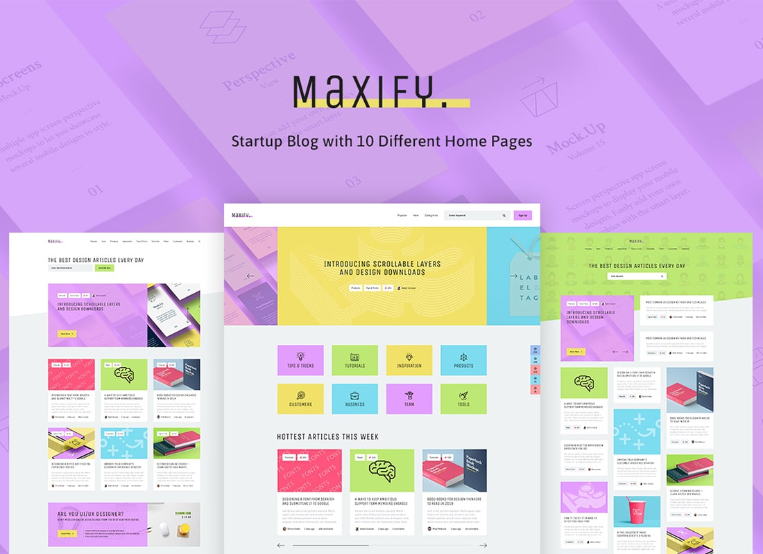 Maxify | Startup & Business Blog WordPress Theme Website Template