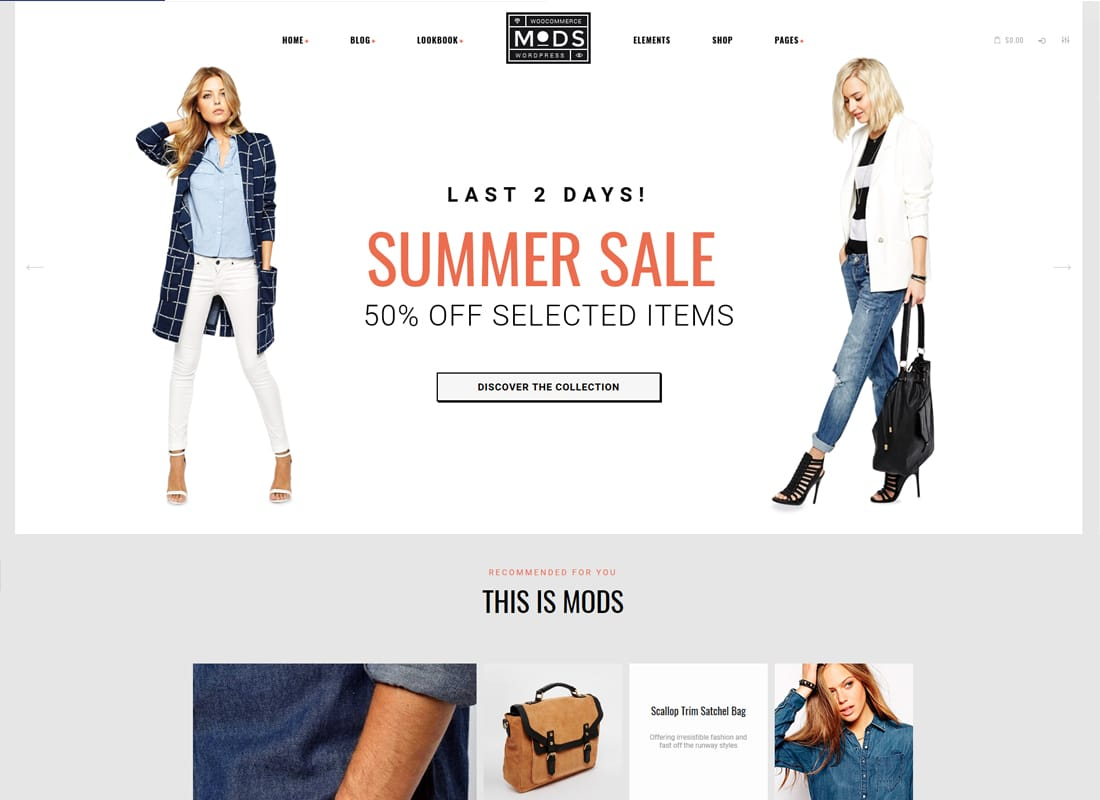 Mods - A Stylish Clothes Shop & Fashion Blog WordPress Theme   Website Template