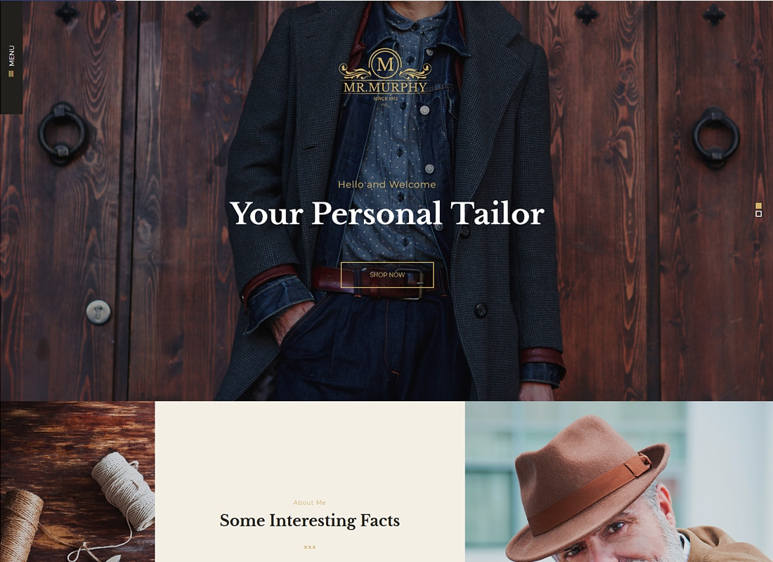 Mr. Murphy - Custom Tailoring WordPress Theme   Website Template