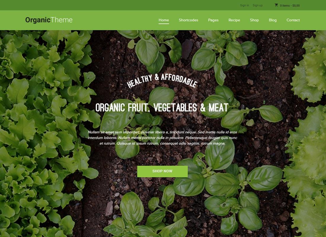 ORGANIC - Organic Farm & Food Business WordPress Theme   Website Template