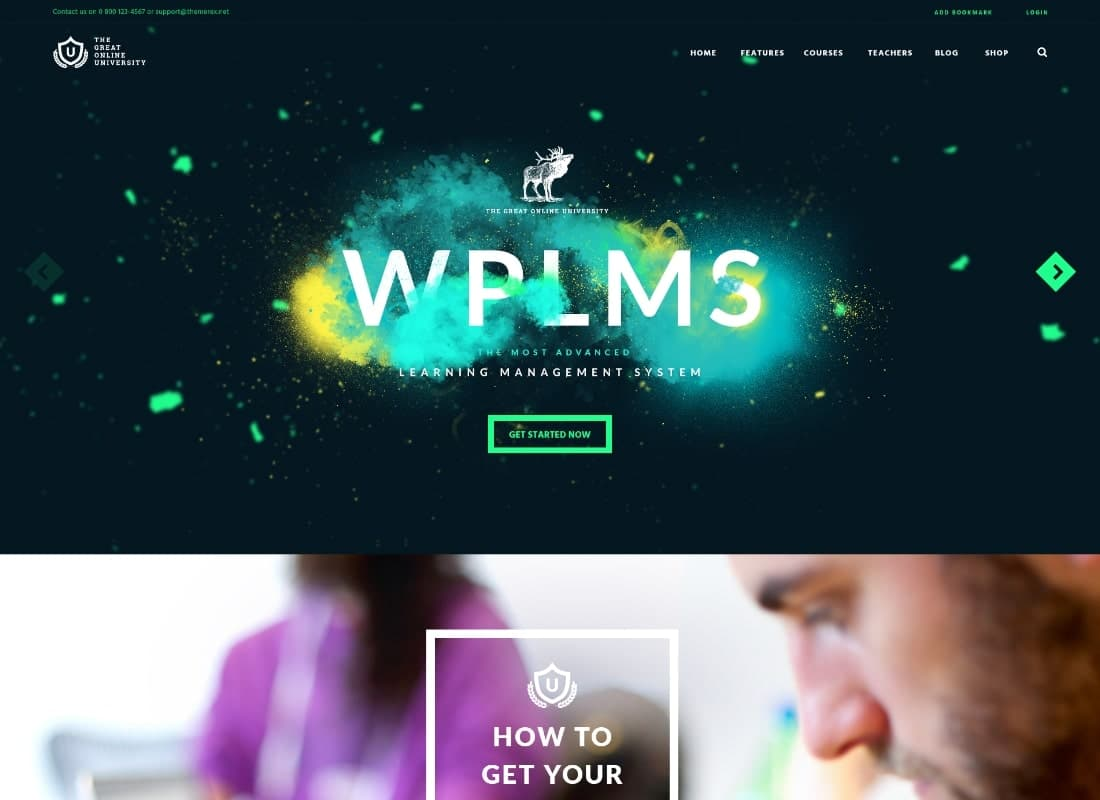 Online University - Education LMS School WordPress Theme Website Template