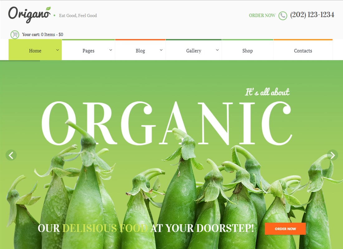Origano - Organic Food & Eco Farm WordPress Theme   Website Template