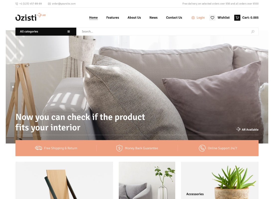 Ozisti | A Multi-Concept WooCommerce WordPress Theme Augmented Reality Store Ready Website Template