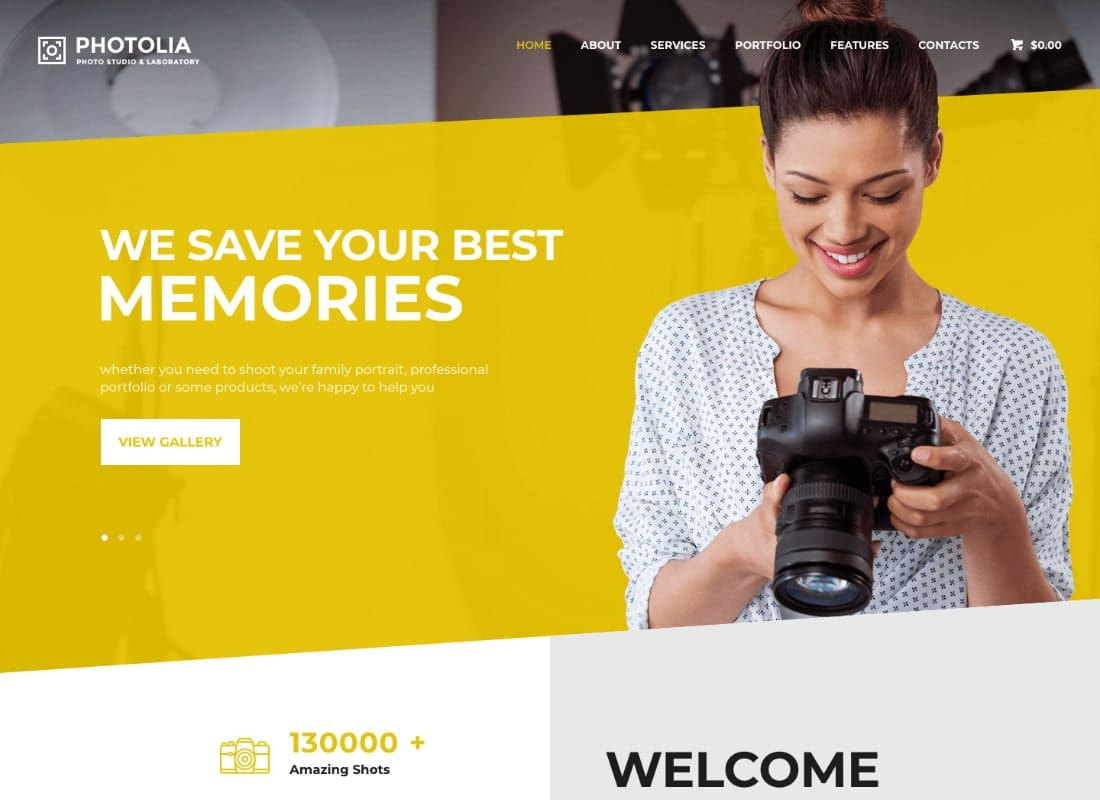 Photolia | Photo Company & Photo Supply Store WordPress Theme Website Template