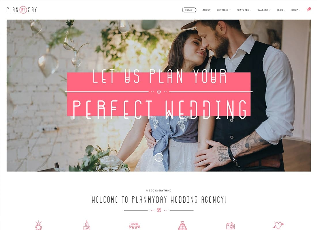 Plan My Day | Wedding / Event Planning Agency WordPress Theme Website Template