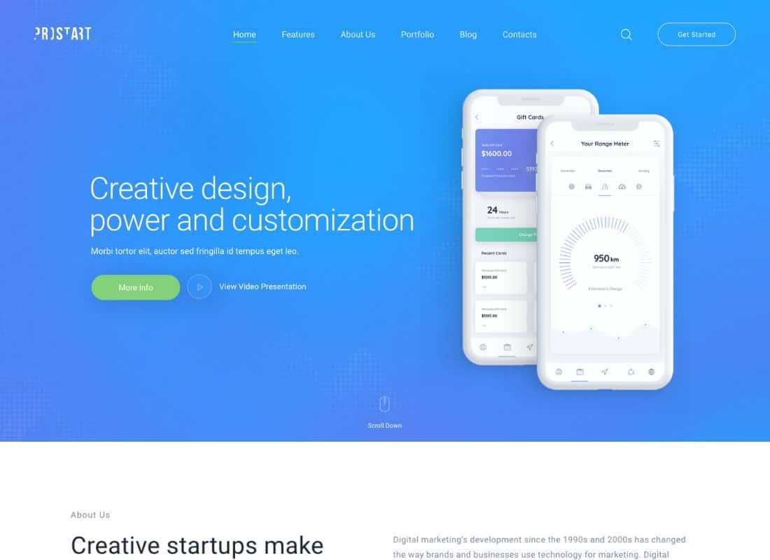ProStart | Startup & Corporate Business WordPress Theme Website Template