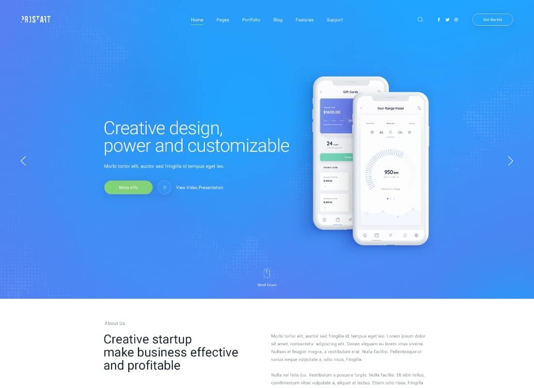 ProStart | Startup & Corporate Business WordPress Theme Website Template