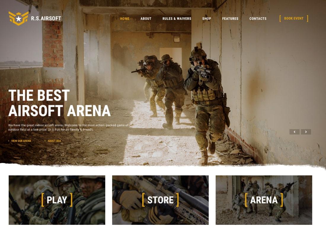Raider Spirit | Airsoft Club & Paintball WordPress Theme Website Template
