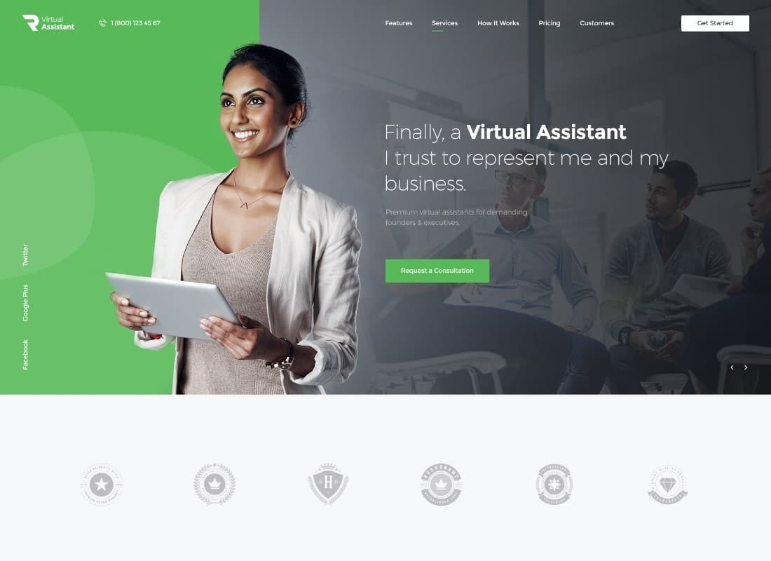 Revirta | Virtual Assistant WordPress Theme Website Template