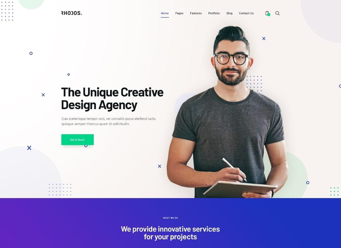 Rhodos | A Colossal Multipurpose WordPress Theme for Business & Portfolio Website Template