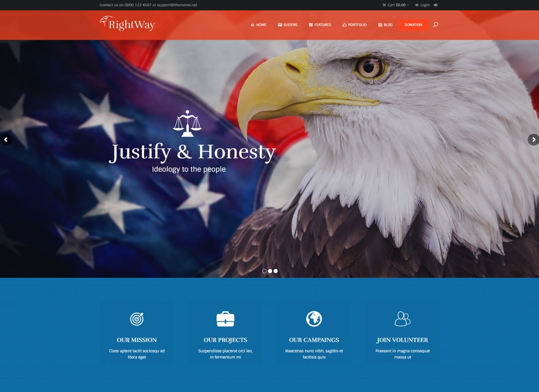 Right Way | Political WordPress Theme Website Template