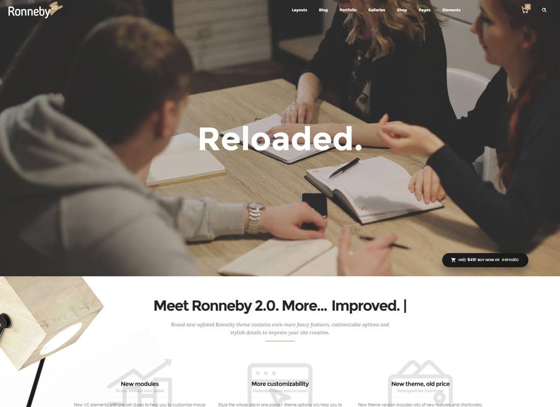 Ronneby - High-Performance WordPress Theme Website Template