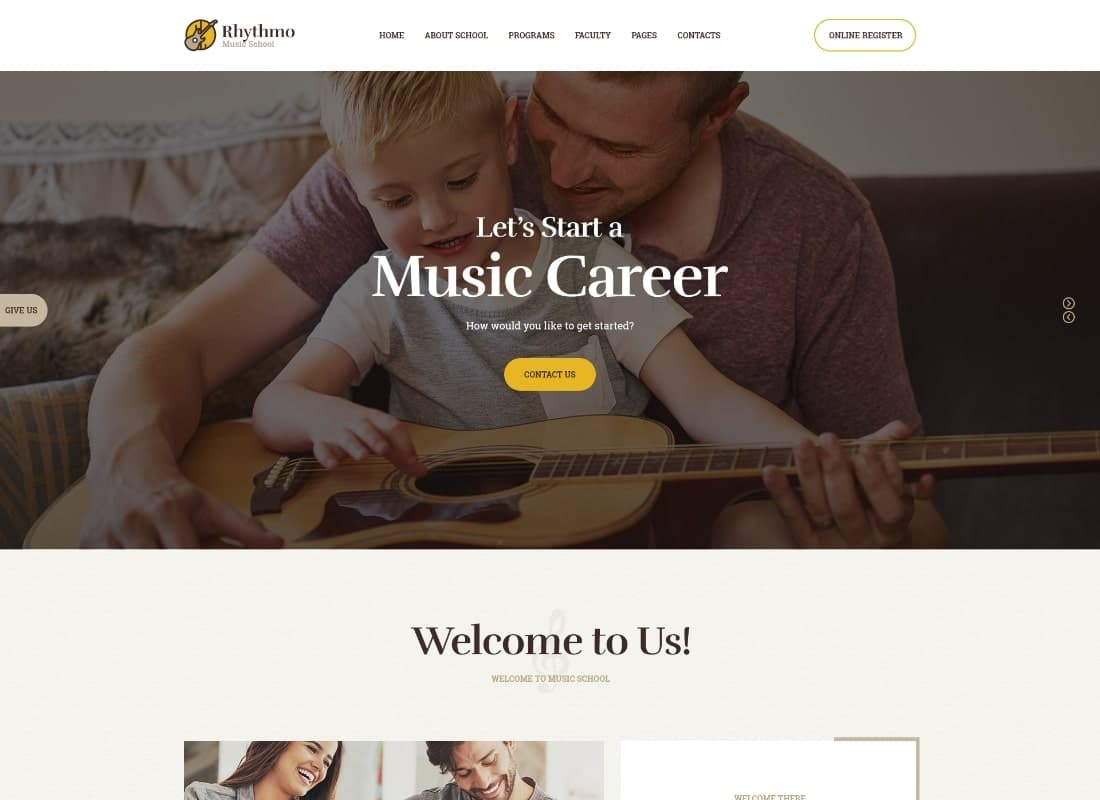 Rythmo | School of Arts & Music School WordPress Theme Website Template