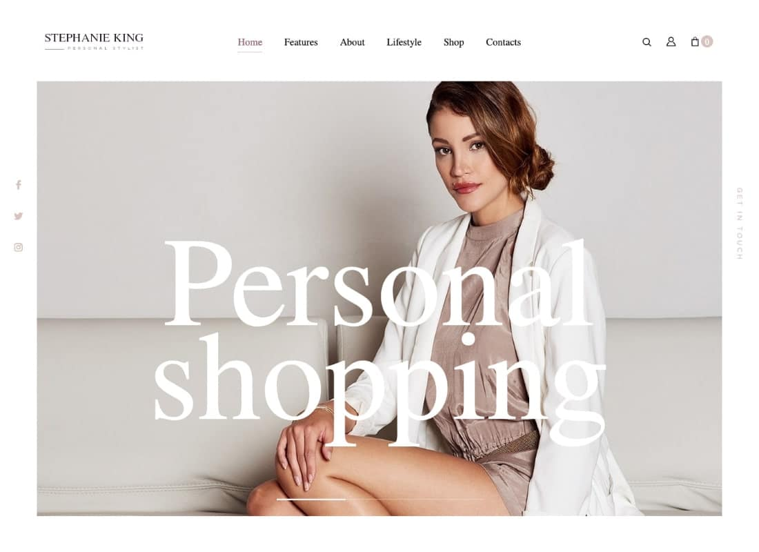 S.King | Personal Stylist and Fashion Blogger WordPress Theme Website Template