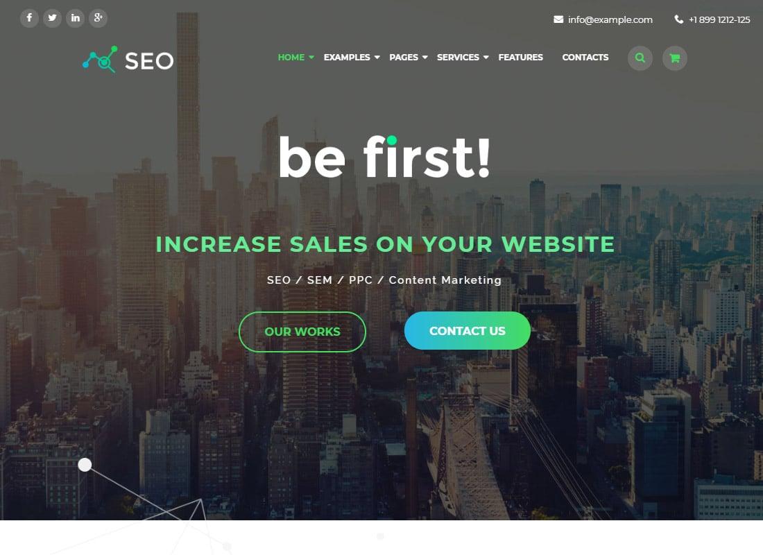 The SEO | Digital Marketing Agency WordPress Theme Website Template