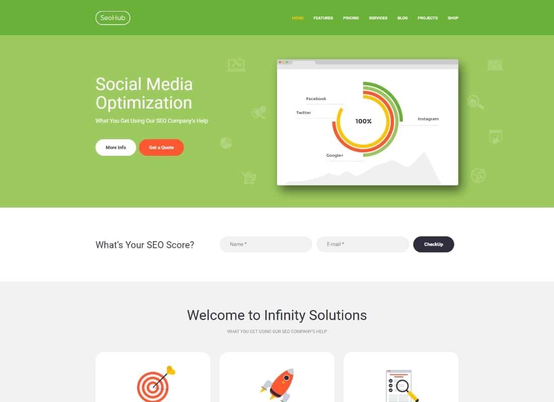 SEOHub | A Colorful SEO & Marketing WordPress Theme Website Template