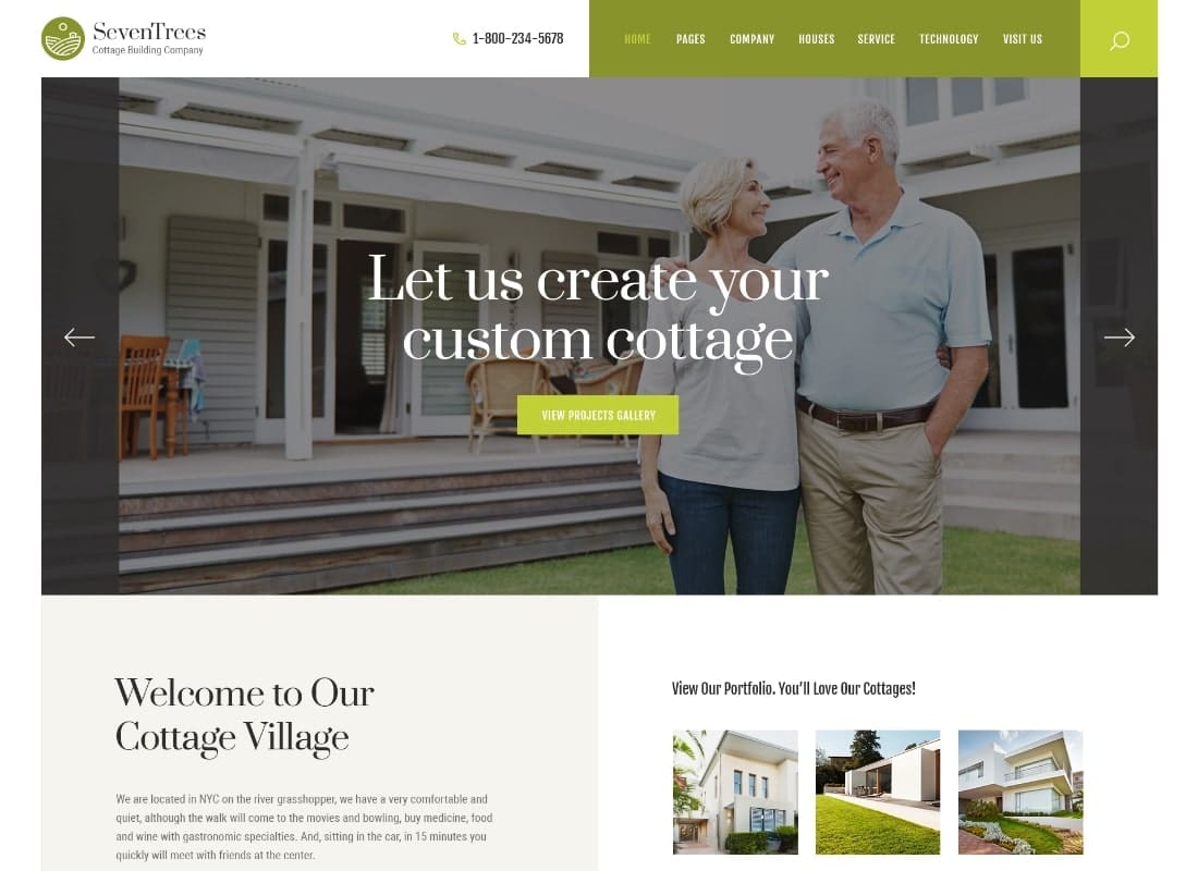 SevenTrees | Real Estate Property WordPress Theme Website Template