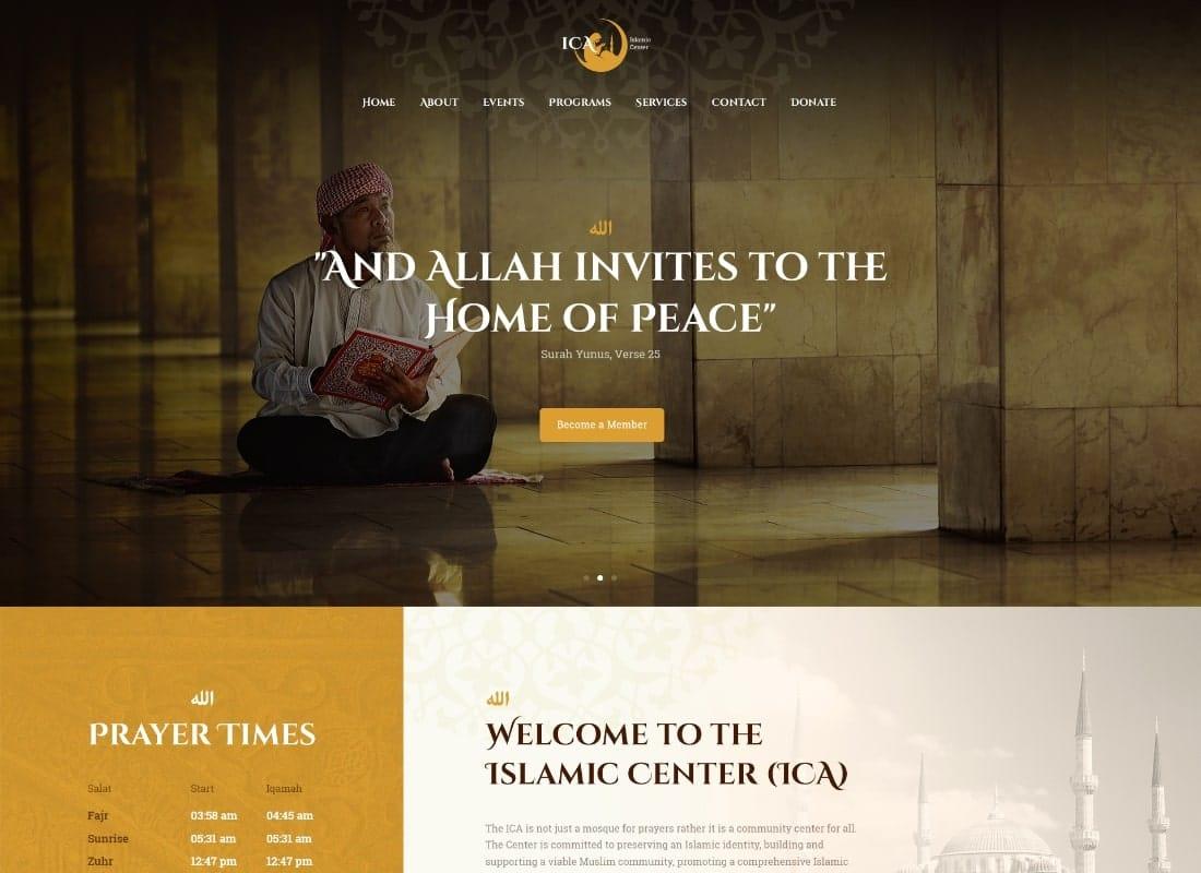 Shaha | Islamic Centre & Mosque WordPress Theme + RTL Website Template