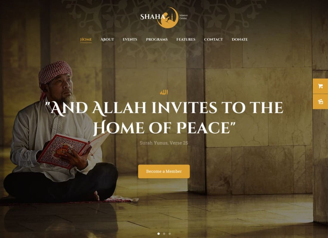Shaha | Islamic Centre & Mosque WordPress Theme + RTL Website Template