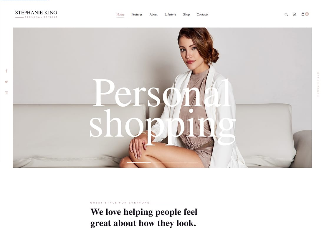 S.King - Personal Stylist and Fashion Blogger WordPress Theme   Website Template