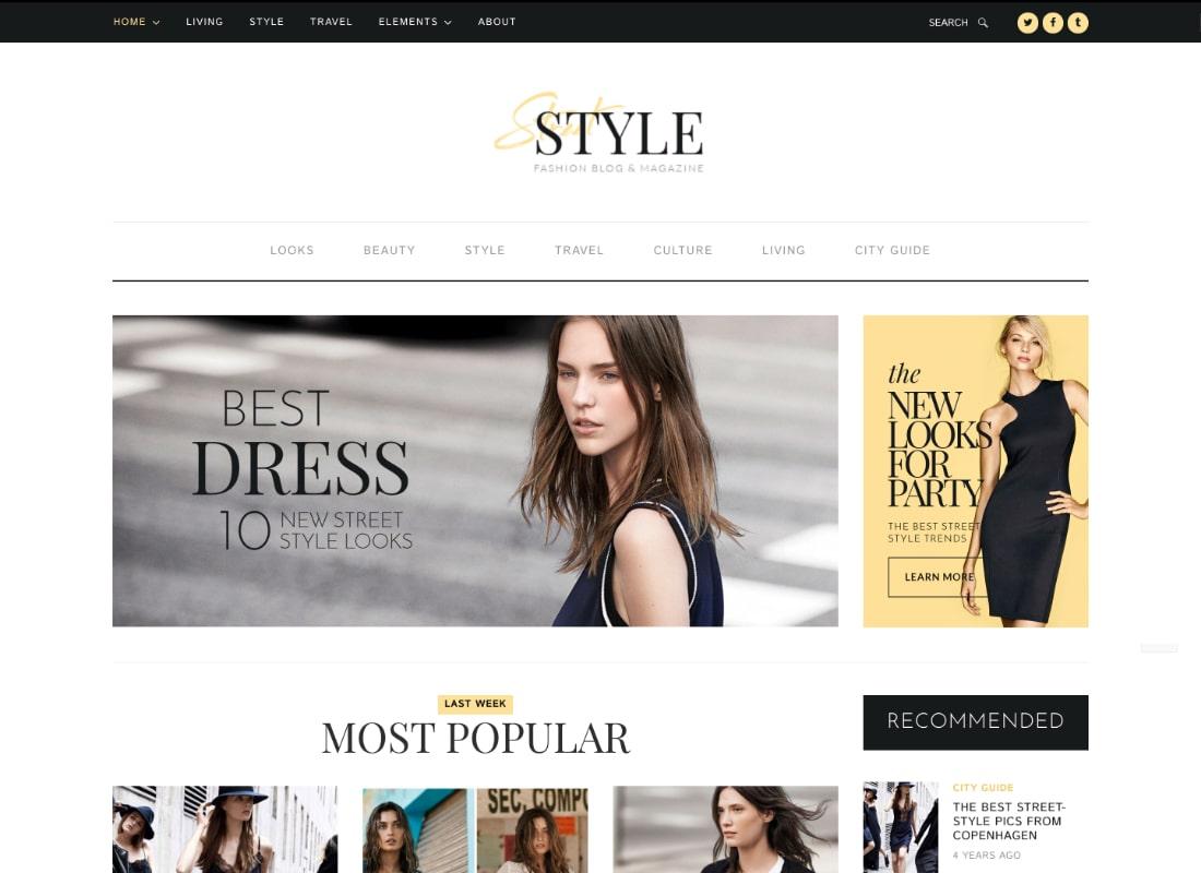 Street Style - Fashion & Lifestyle Personal Blog WordPress Theme Website Template
