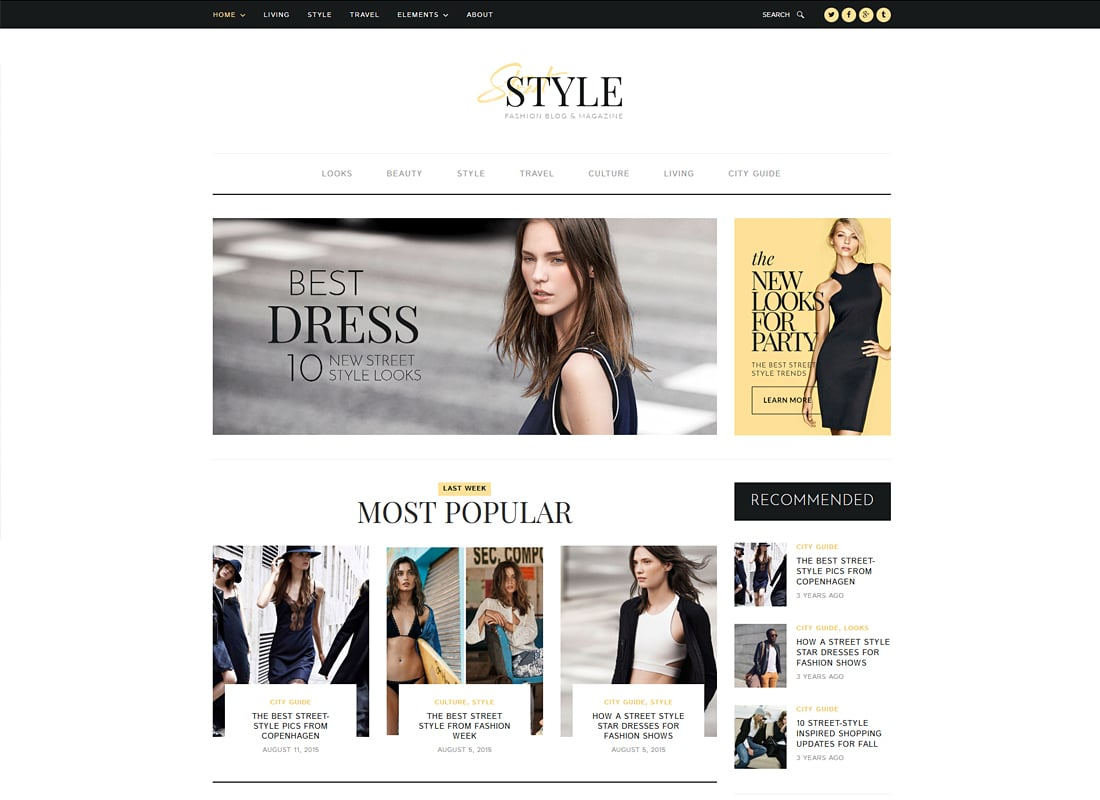 Street Style - Fashion & Lifestyle Personal Blog WordPress Theme   Website Template