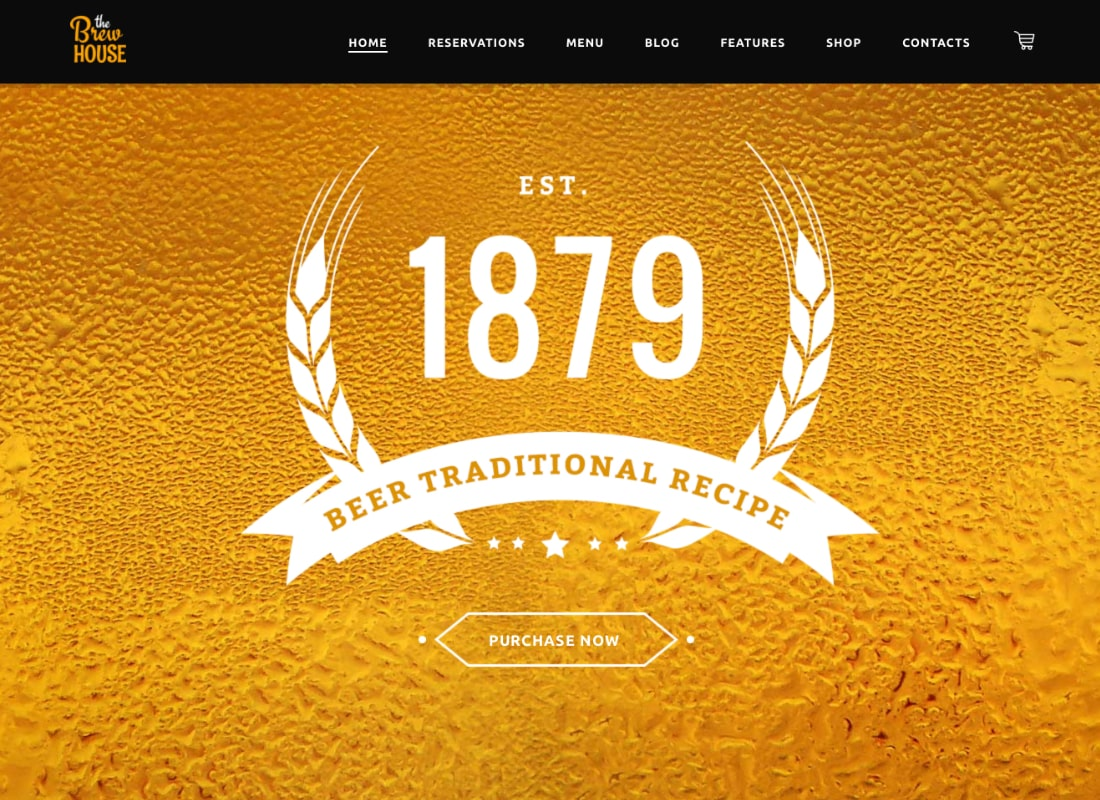 BrewHouse | Brewery / Pub / Restaurant WordPress Theme Website Template