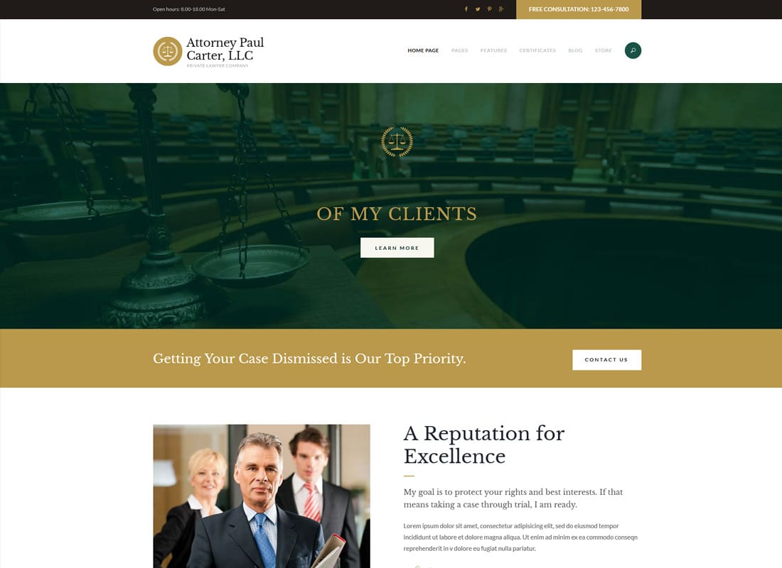 The Law - A Classic Legal Advisers & Attorneys WordPress Theme Website Template