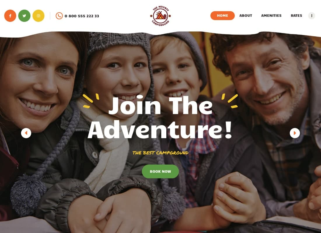 The Mounty   Hiking Campground & Children Camping WordPress Theme Website Template