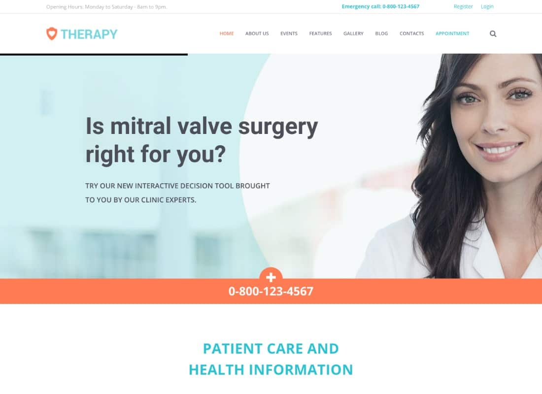Therapy | Health and Medical WordPress Theme Website Template