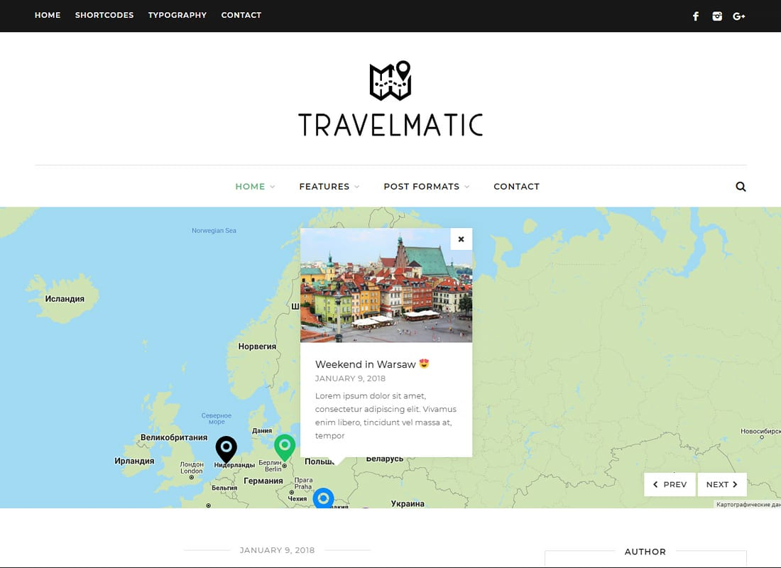 Travelmatic - Travel Blog WordPress Theme Website Template
