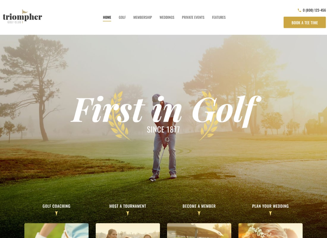 Triompher | Golf Club WordPress Theme Website Template