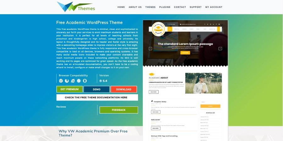 VW Education Academy Website Template