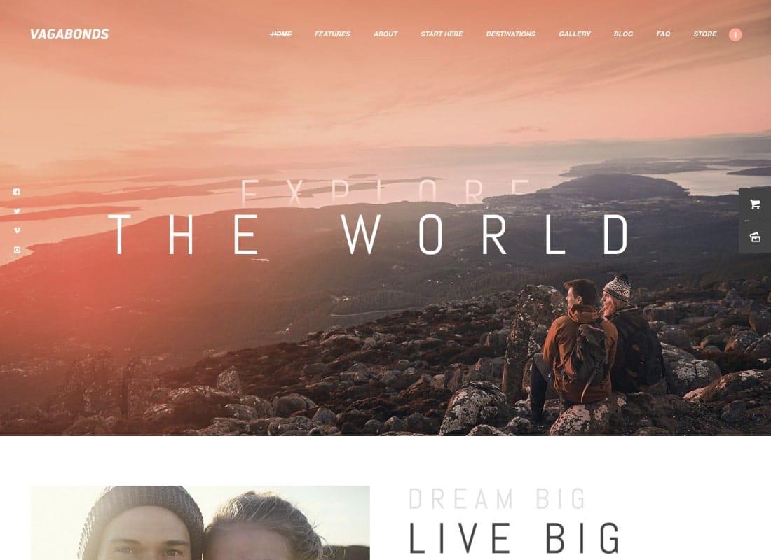 Vagabonds   Personal Travel & Lifestyle Blog WordPress Theme Website Template