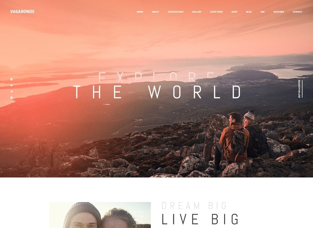 Vagabonds | Personal Travel & Lifestyle Blog WordPress Theme Website Template