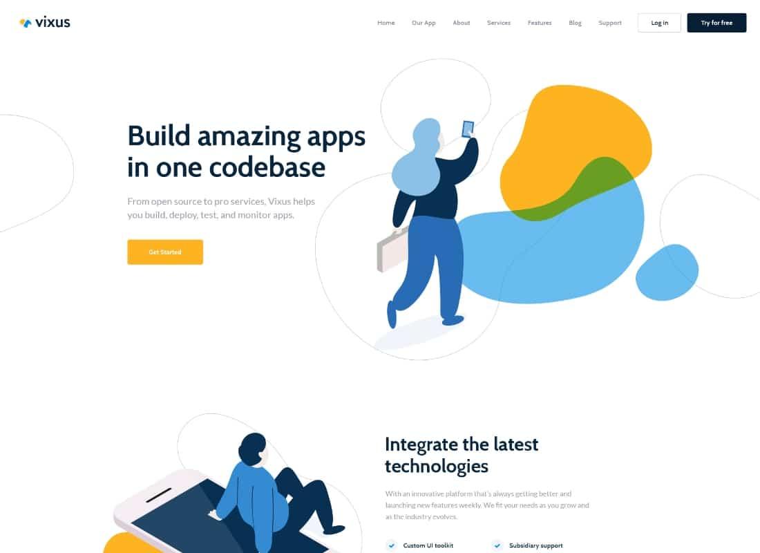 Vixus | Startup & Mobile App WordPress Landing Page Theme Website Template