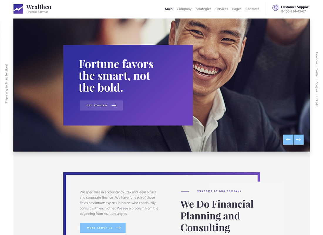WealthCo | A Fresh Business & Financial Consulting WordPress Theme Website Template