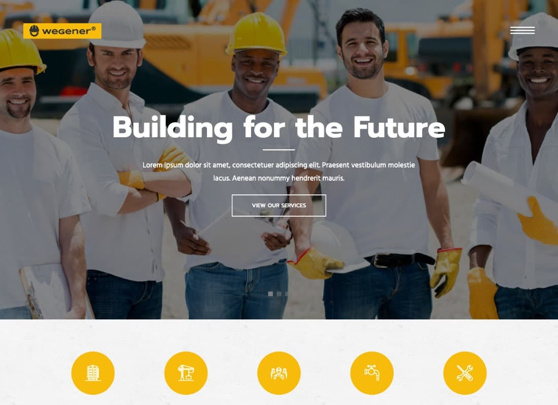 Wegener | Construction & Engineering WordPress Theme Website Template